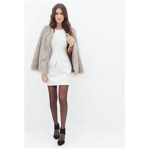 F21 Metallic Jacquard Brocade Sheath Dress [F4]